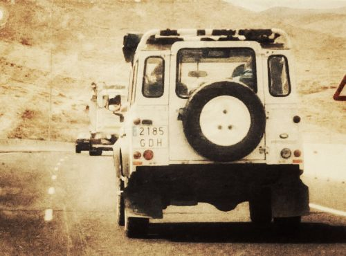 jeep steppe dunes