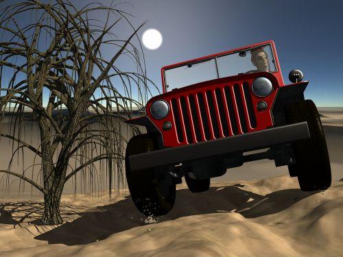 jeep desert landscape