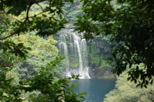 jeju cheonjeyeon cheonjeyeon waterfall