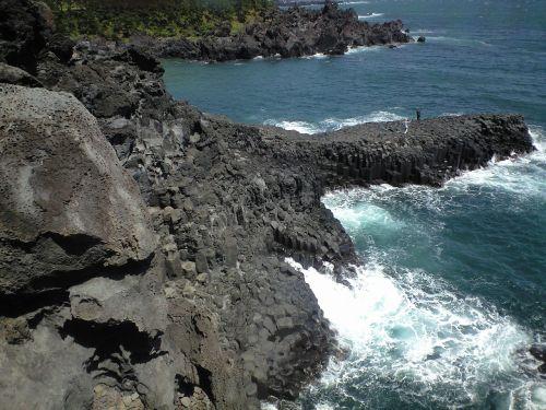 jeju island jusangjeolli waves