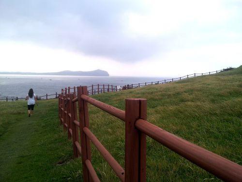 jeju island sea fence