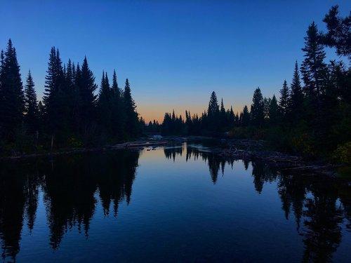 jenny lake twilight  twilight  evening