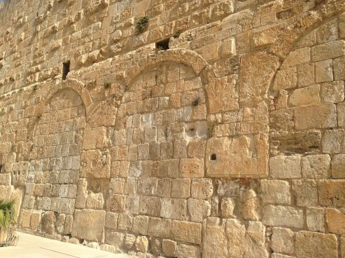 jerusalem israel western wall brick wall