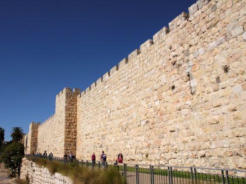 jerusalem city wall fixing
