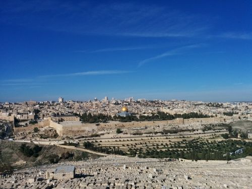 jerusalem the mount of olives the esplanade of the temple