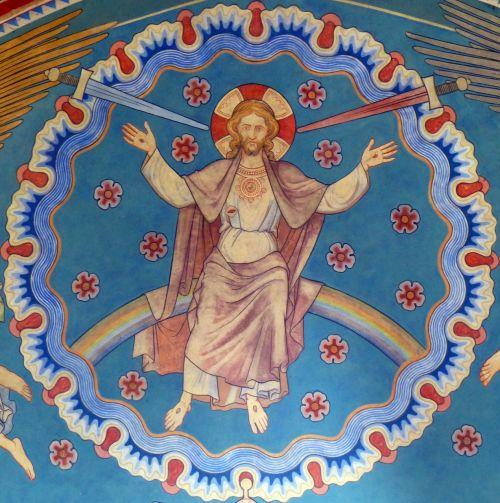 jesus church mural