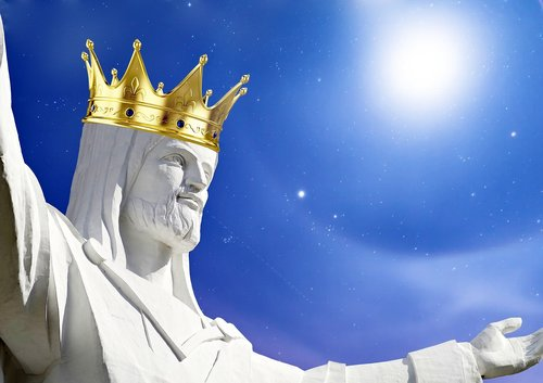 jesus  imperial crown  blue