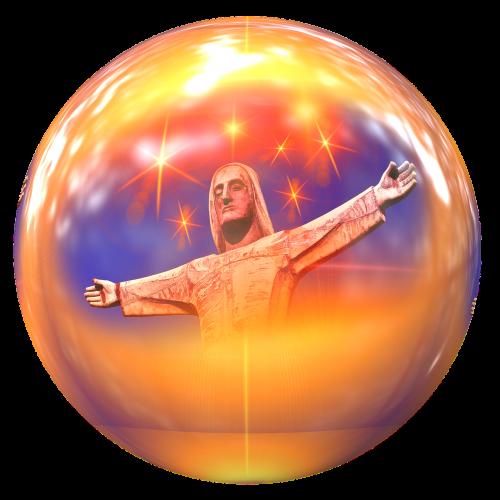 jesus statue ball