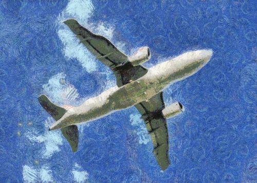 Jet Airplane Painting
