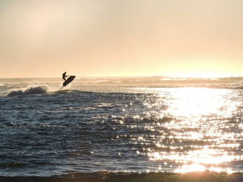 jet ski jumping ocean
