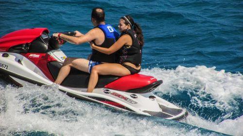jet ski action water