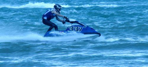 Jet Skier Water Skiing
