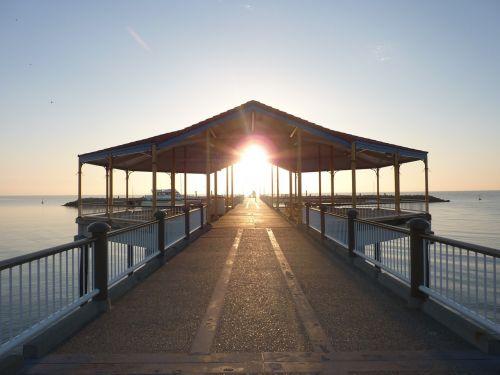 jetty redcliffe jetty dawn