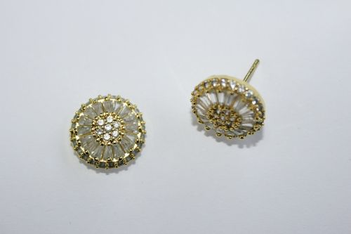 jewel earring gold