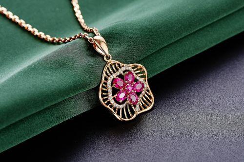 jewelry ruby pendant