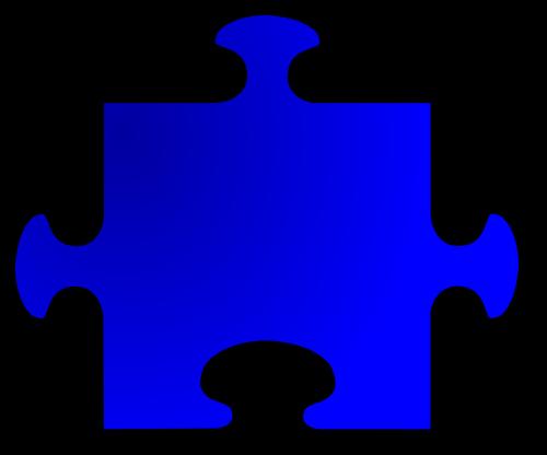 jigsaw shape blue
