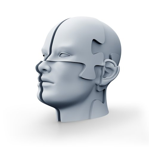 jigsaw head  puzzle  3d render