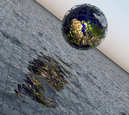 jigsaw puzzle globe mobilbakgrund