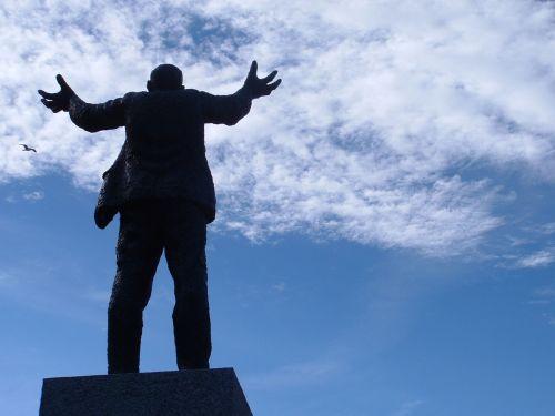 jim larkin statue sky blue sky