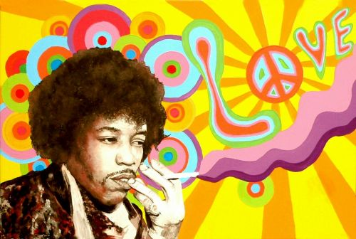 jimi hendrix hippie peace