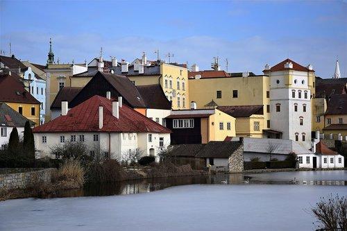 jindřichův hradec  pond  castle