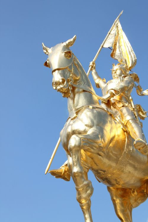 joan of arc gold statue