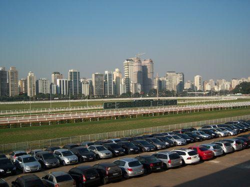 jockey club sao paulo skyline parking lot