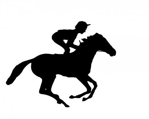 Jockey On Horse Galloping