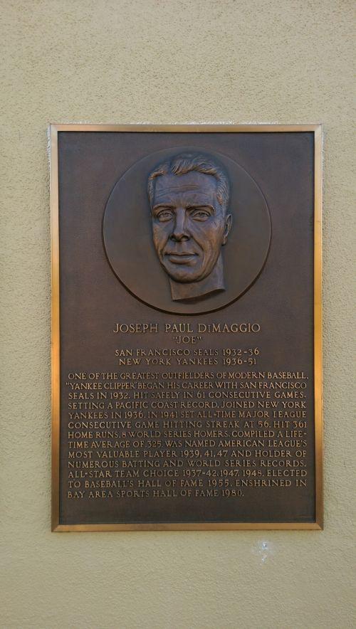 Joe DiMaggio Plack