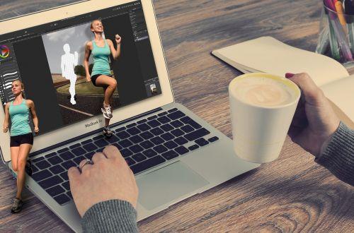 jog laptop photo montage