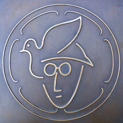john lennon memorial plaque plackette