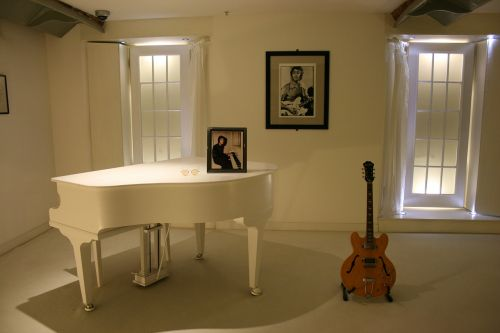 john lennon white piano guitar