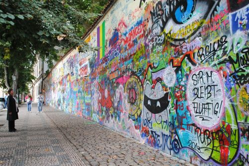 john lennon wall prague places of interest
