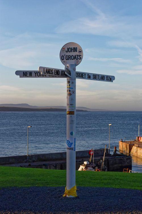 john o'groats john o'groats signpost attraction