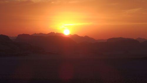 jordan desert sunset