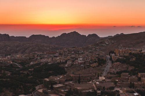 jordan town sunset