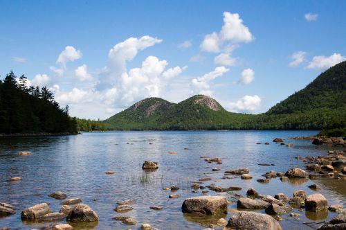 jordan pond landscape scenic