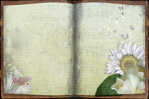 journal book sun flower