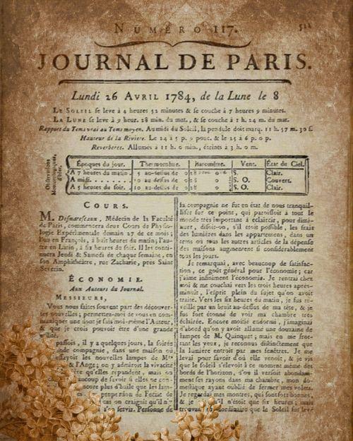 journal page vintage