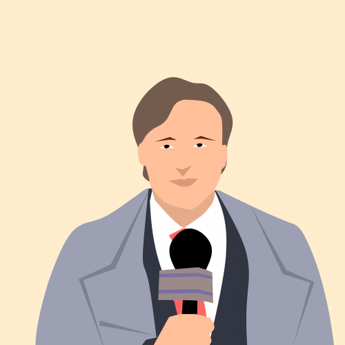 journalist newscaster tv reporter