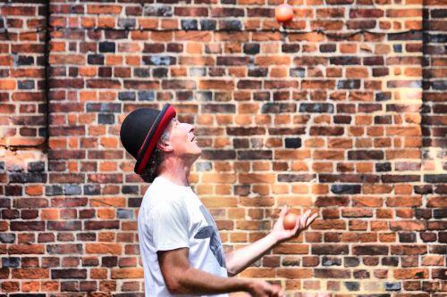 juggler brick wall
