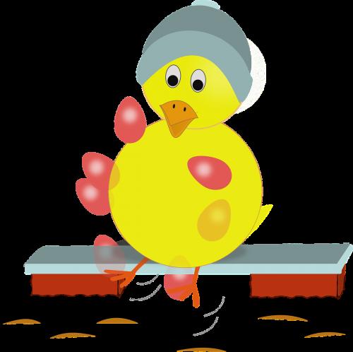 žongliravimas,ančiukas,viščiukas,stendas,vištiena,kiaušiniai,skrybėlę,šventė,pavasaris,geltona,nemokama vektorinė grafika