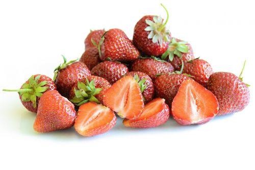 juicy and fresh strawberries strawberry isolated