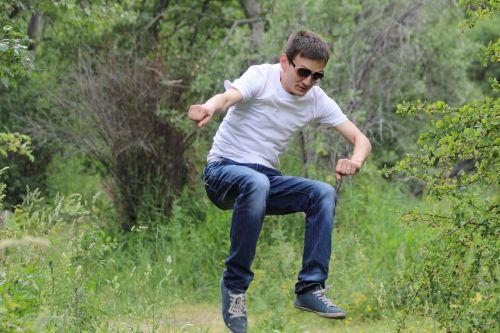 jump nature man
