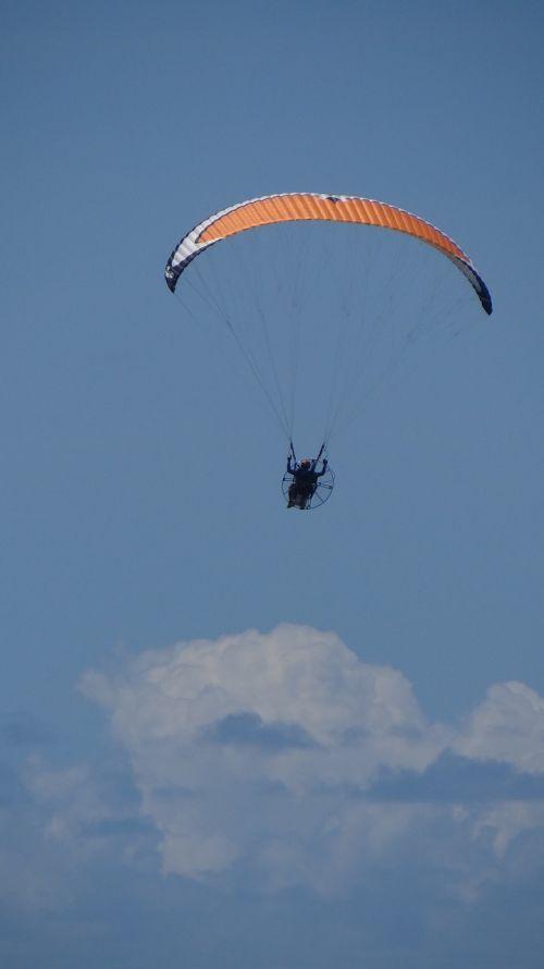 jump parachute emotion