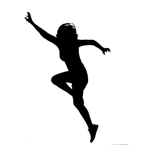 jumping catching woman
