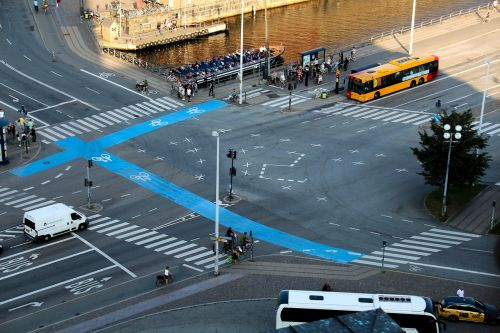 junction traffic zebra crossing