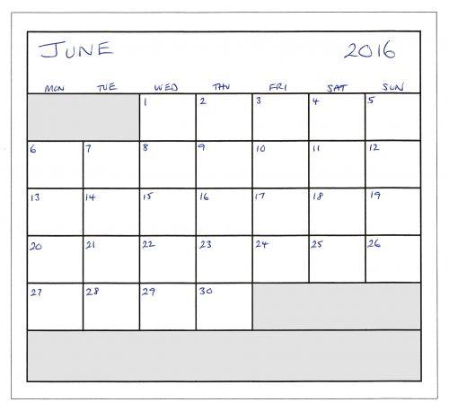 June 2016 Planner