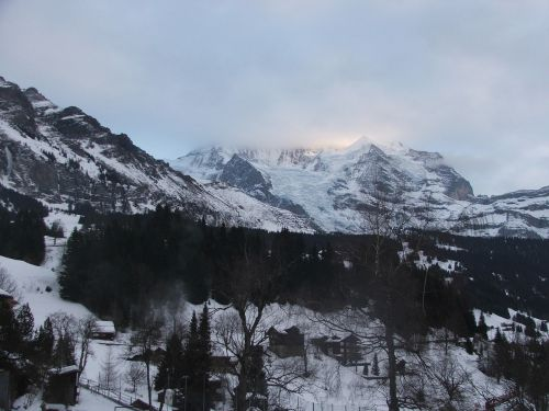 jungfrau mountain winter