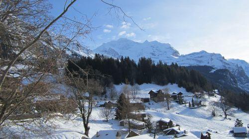 jungfrau mountain january 3 2012 winter